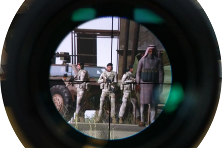 Actual view Sim Rifle Scope